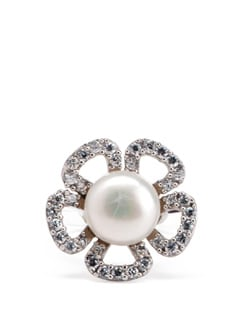 Sterling Silver Pearl Ring - Tanya Rossi, Italy