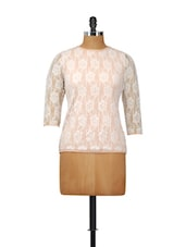 Elegant Peach Full-sleeved Top - Besiva