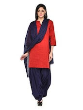 Navy Blue Patiala Salwar With Dupatta Set - Stylenmart