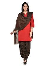 Brown Patiala Salwar With Dupatta Set - Stylenmart