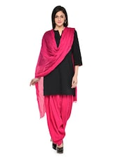 Dark Pink Patiala Salwar With Dupatta Set - Stylenmart