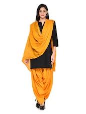 Orangish Yellow Patiala Salwar With Dupatta Set - Stylenmart