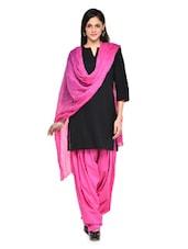 Pink Patiala Salwar With Dupatta Set - Stylenmart