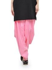 Baby Pink Cotton Patiala Salwar - Stylenmart