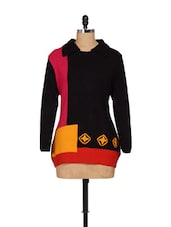 Black Winter Top With A Multi-coloured Base - Madrona