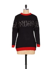 Black And Red Winter Top - Woila