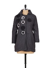 Grey Jacket Style Coat - Madrona