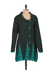 Green Knitted Winter Coat - Madrona