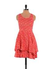 Floral Print Dress(Red) - URBAN RELIGION
