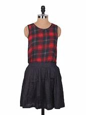 Checkered Dress With Black Skirt - URBAN RELIGION