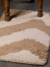 Beige And Off-white Carpet Mat - Dorahomes
