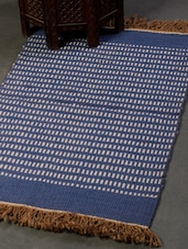 Blue And White Carpet Mat - Dorahomes