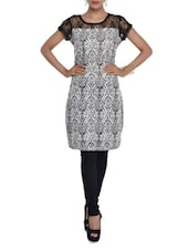 Black And White Printed Dress - Color Cocktail