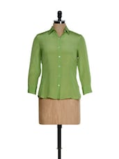 Light Green And Blue Shirt - Kaaryah