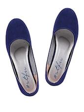 Round Toe Blue Suede Bellies - SINDHI FOOTWEAR