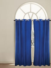 Royal Blue Cotton Window Curtain - HOUSE THIS