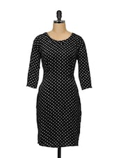 Black And White Polka Dot Dress - Meira