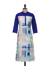 Blue And White Full-sleeved Tunic - Meira