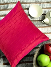 Maroon Cushion Cover With Checkered Cubes In The Centre - ANS