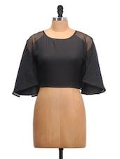 Black Kaftan Style Crop Top - Schwof