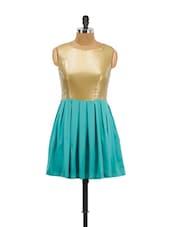 Gold Glitter Green Dress - Schwof