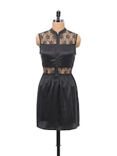 Black Detail Lace Dress - Schwof