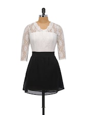 Black And White Lace Dress - Schwof
