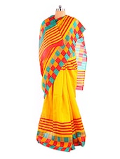 Graceful Yellow Bhagalpuri Silk Saree With Blouse Piece - Riti Riwaz