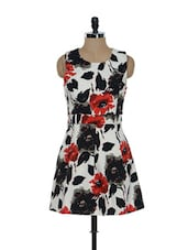 Floral Print Skater Dress - Ozel Studio