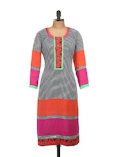 Multi-coloured Kurta With Check Prints - Concepts