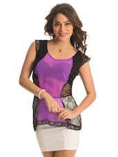 Purple Panel Lace Top - PrettySecrets