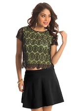 Lime Lace Crop Top - PrettySecrets
