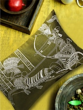 Egyptian Pharaoh On Chariot Embroidered Sap Green Cushion Cover - 13 Odds