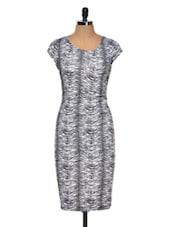 Zebra Print Midi Dress - Dress Kart