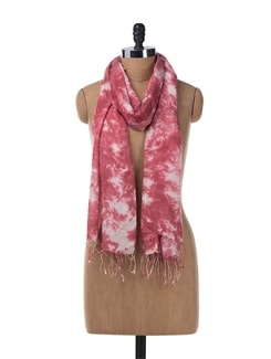 Tie & Dye Pashmina Stole In Purple - URBAN PARI