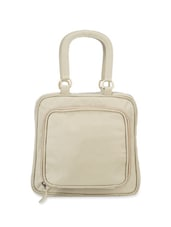 White Leather Satchel Bag - Phive Rivers