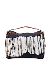 Navy Blue And White Patched Handbag - Phive Rivers