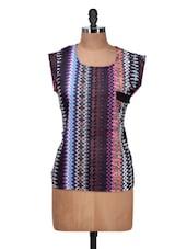 Multi-coloured Printed Top - Silk Weavers
