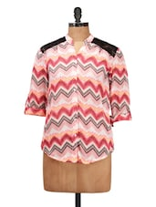 Lovely Pink Casual Top - Silk Weavers