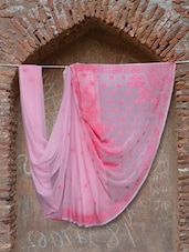 Pretty In Pink Chikankari Saree - Ada