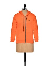 Orange Sweatshirt With Hood - KAXIAA
