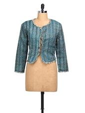 Blue Short Woolen  Jacket - MARTINI