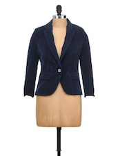 Navy Blue Fitted Formal Jacket - MARTINI