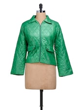 Quilted Green Puffy Winter Jacket - MARTINI