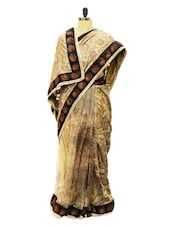 Half Floral Printed Regal Saree - D-OPUS