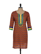 Floral Print Cotton Kurti - ADVITA