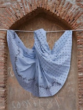 Blue Chikankari Saree - Ada
