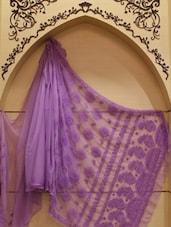 Purple Chikankari Saree - Ada