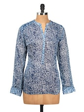 Floral Print Poly Crepe Top - Oxolloxo
