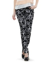 Printed Black and white Trendy Pants